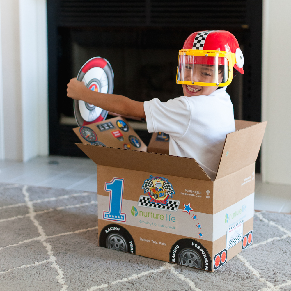 cardboard box race car