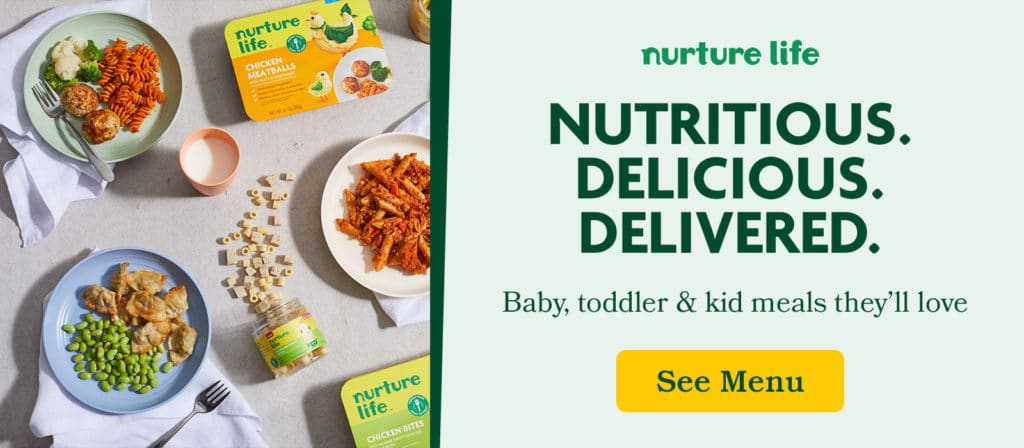 baby, toddler & kid meals | Nurture Life